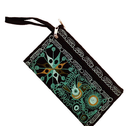 Embroidered Money Pouch and Cosmetic Pouch