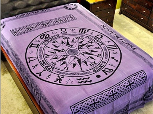 """Cycle Of Age Tapestry (Purple) - 72"""" x 108"""""""