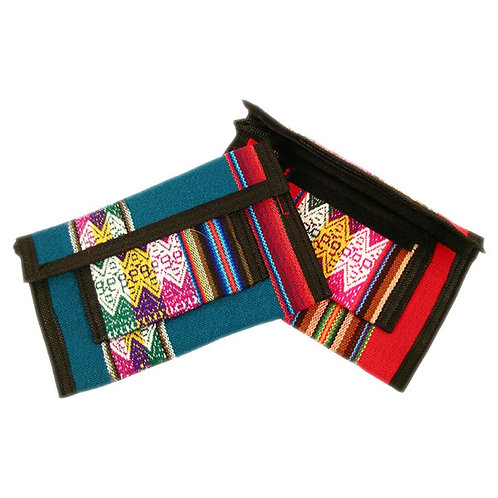 Manta Cotton Woven Clutch Purse Wallet With Zipper