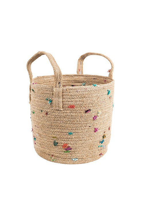 Jute & Recycled Sari Basket