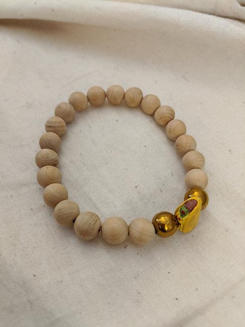 Wood Beaded Bracelet