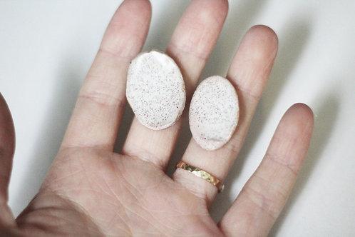 Oval Earrings // Handmade Ceramic Earrings