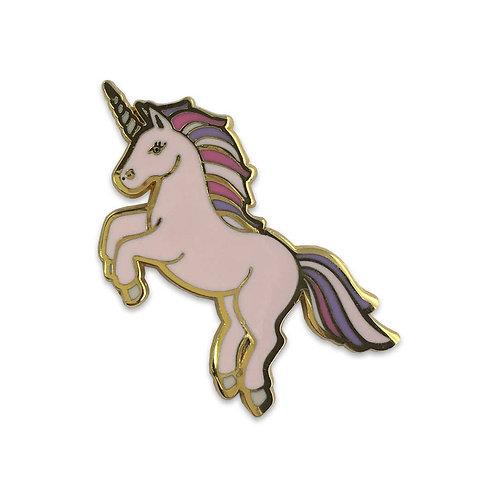 Unicorn Enamel Pin, Blush Pink