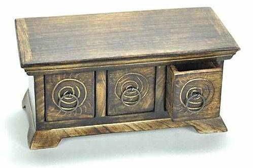 """Wooden Herb Chest - 9.5"""" x 4.75"""" x 4.5"""""""