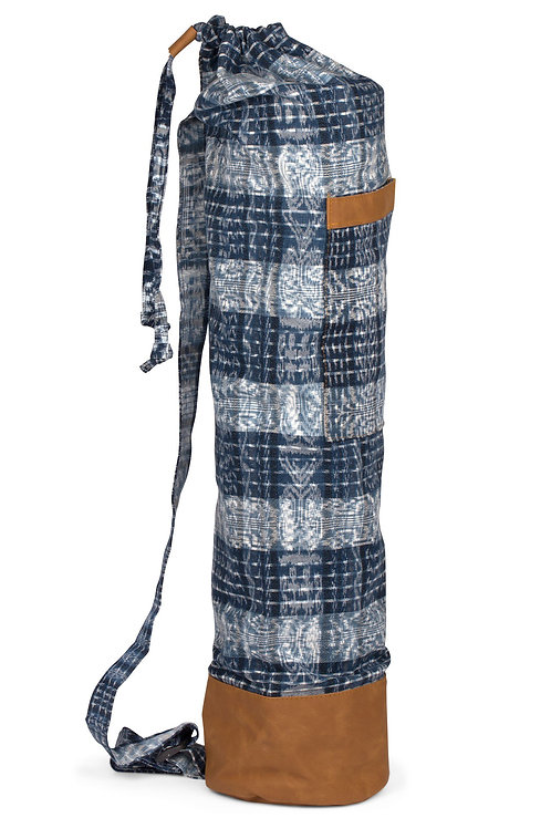 Blue Plaid Yoga Mat Bag