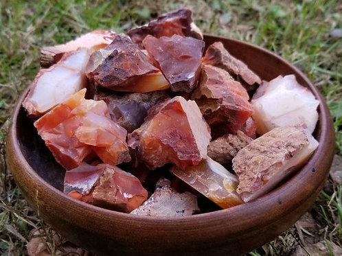 Rough / Raw Carnelian Agate Gemstones