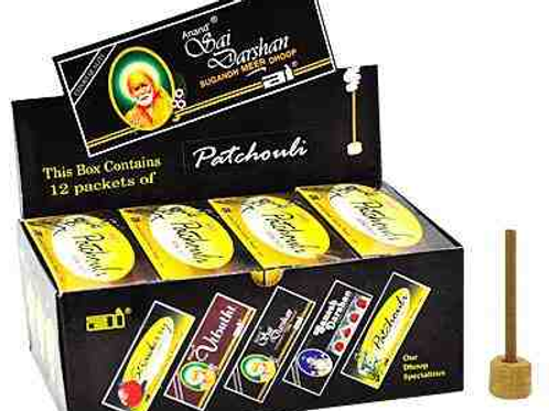 "Sai Darshan Patchouli Dhoop 16 Sticks - 3""L"