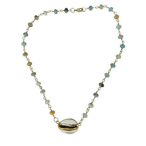 Amazonite Pooka Midi Necklace