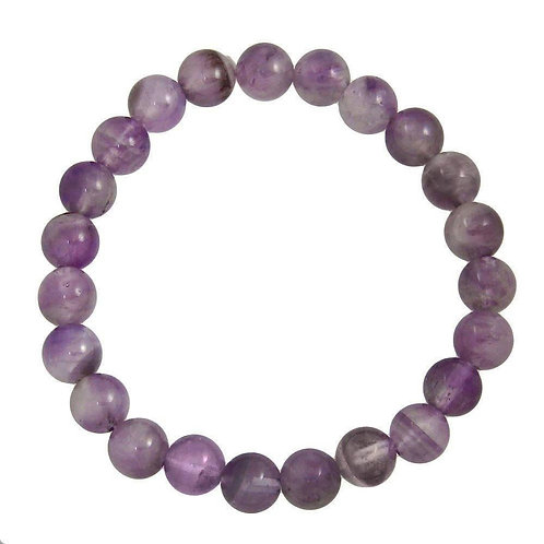 Amethyst Beaded Stretch Bracelet