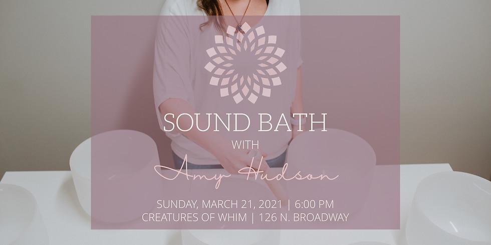 Sound Bath with Amy Hudson