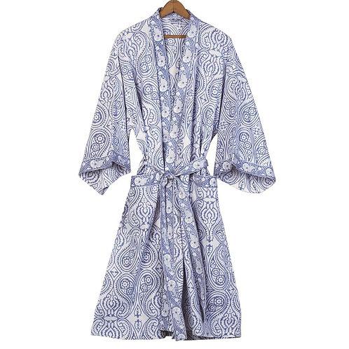 Paisley Cotton Kimono Bathrobe