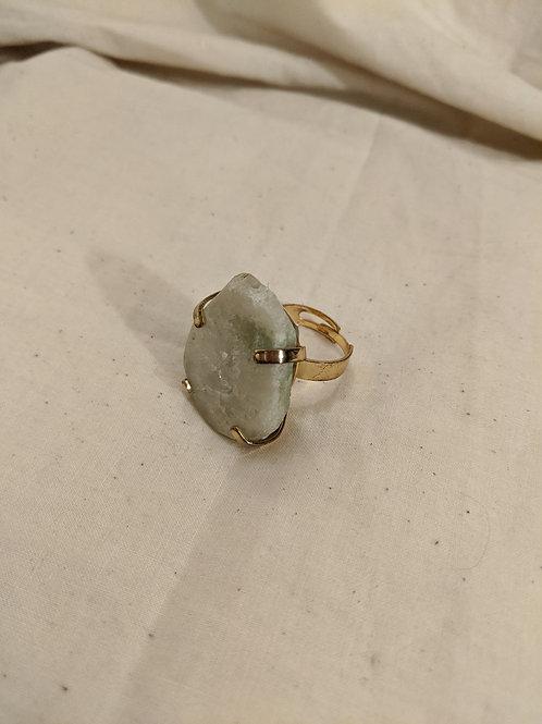 Light Green Crystal Druzy Ring