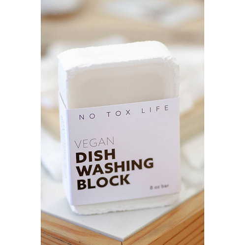 Zero Waste Dish Washing Block Bar Free of Dyes & Fragrance -