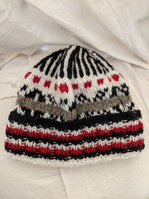 Wool Patterned Beanie - Assorted Designs