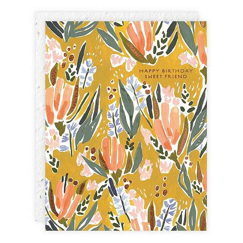 Happy Birthday Sweet Friend - Seedlings Card