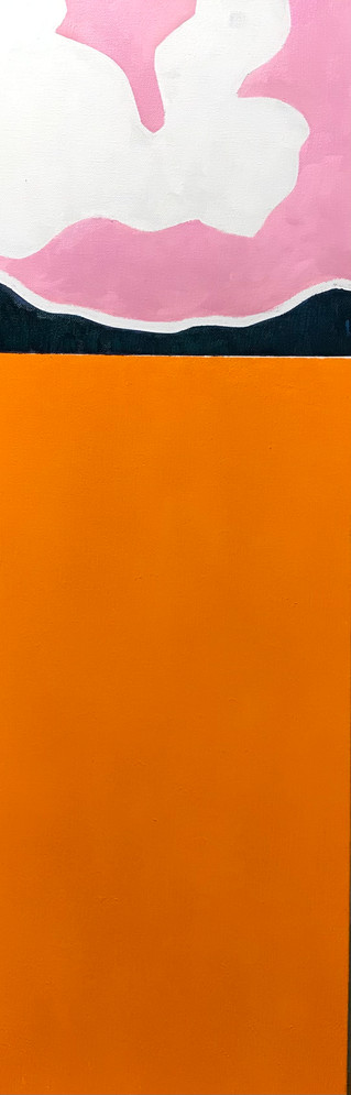 Orange Fence, Pink Sky