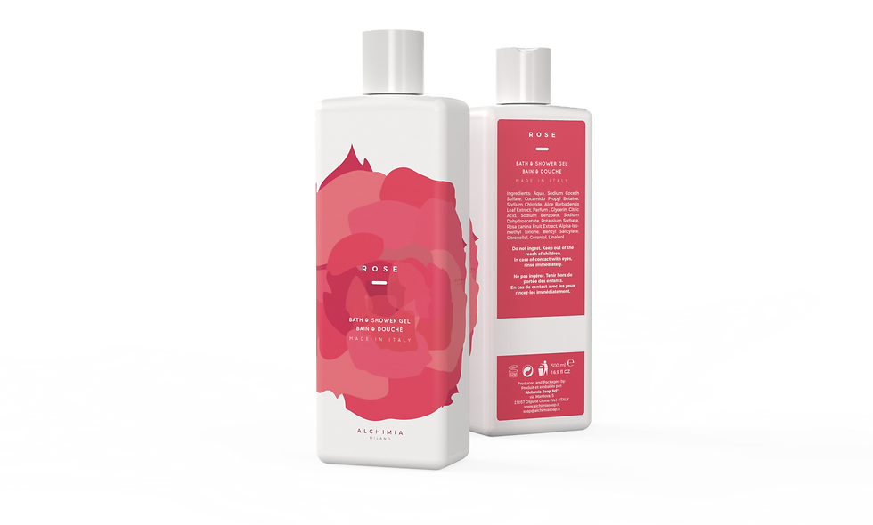 BATH SHOWER 500ML ROSE
