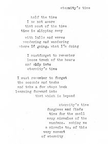 eternity's time - poem
