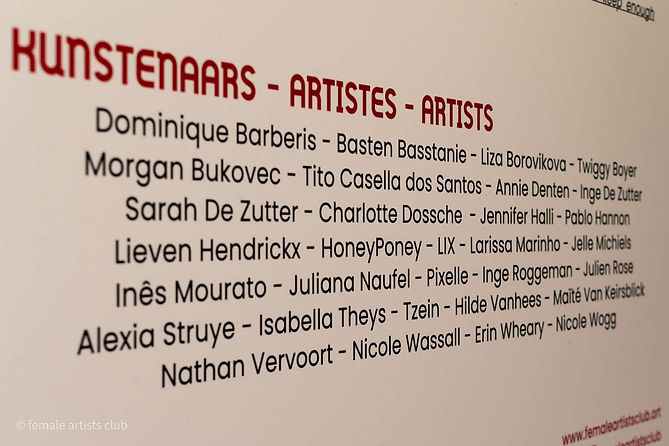 Female Artists Club - Different Strokes artists