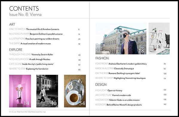 Vienna Issue - Contents