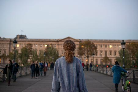Standing on Pont des Art towards the Louvre - Metro Pont Neuf