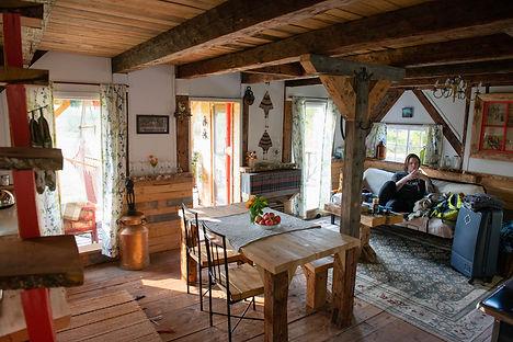 Inside the Artist Cabin, Blackbird Retreat