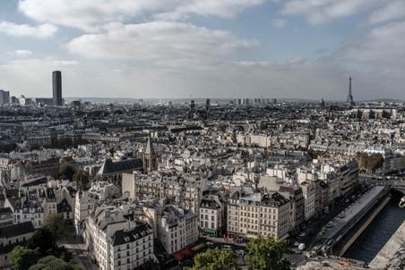 Rooftop View from Notre Dame de Paris - Metro Cité