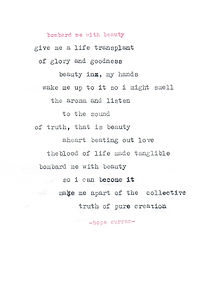 bombed me with beauty - poem