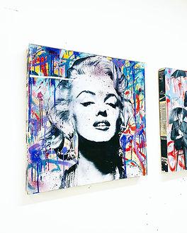 """Marilyn_-_Mixed_media_on_36""""x36""""_woo"""