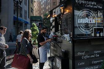 Lower Manhattan coffee stand