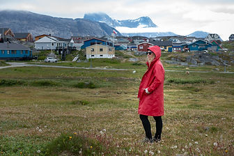 Ilse Jacobsen red rain coat