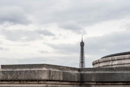 The Eiffel Tower from the Arc de Triomphe - Metro Charles de Gaulle–Étoile