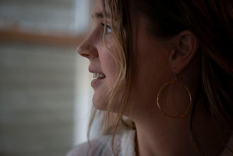 Faith Lamoureux wearing Delah + Fern hoops and nose stud