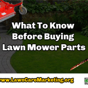 What To Know Before Buying Lawn Mower Parts