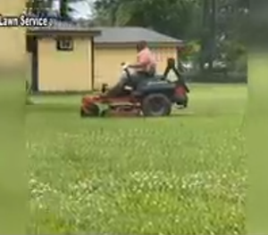 Local lawn service cuts grass for health care workers who are also single parents