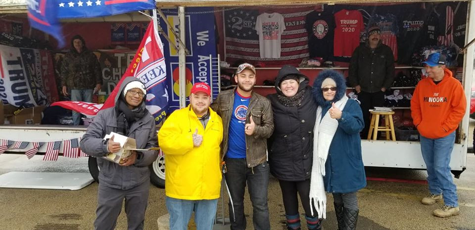 Brandon Harris the Executive Director of Freedom Movement USA and supporters at the Joliet Trump Rally!