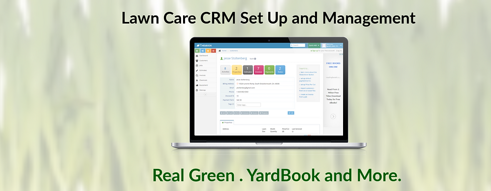 Lawn Care CRM Set Up and Management