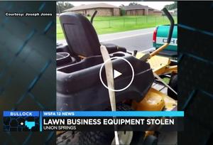 nion Springs man loses lawn care enterprise overnight
