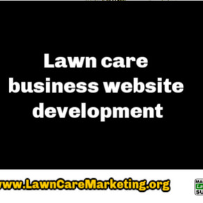 Lawn care business website development
