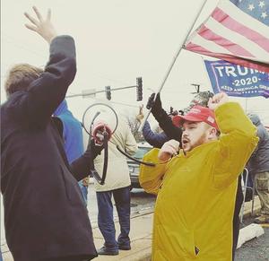 Brandon Harris Executive Chairman of Freedom Movement USA leading Joliet Trump Rally!