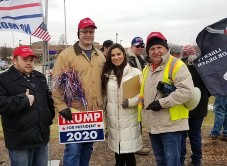 Algonquin Illinois Trump rally huge success for Joe Ptak and co host's Freedom Movement USA