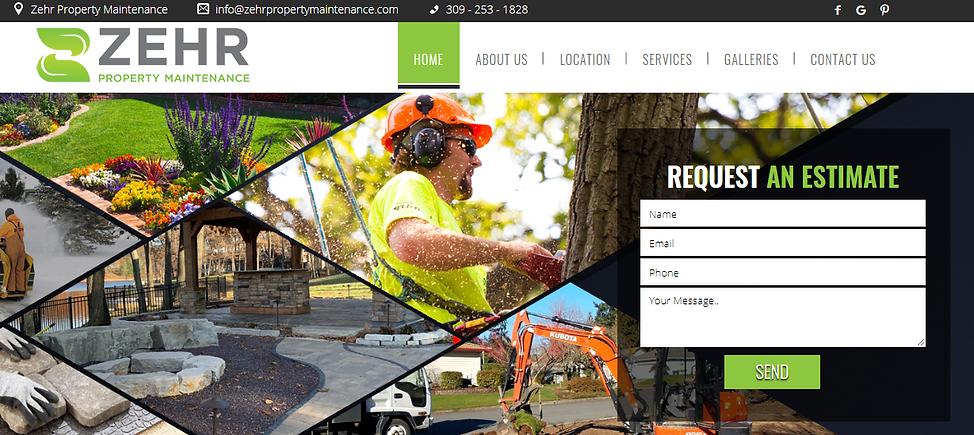 Lawn Care Website Design Sample