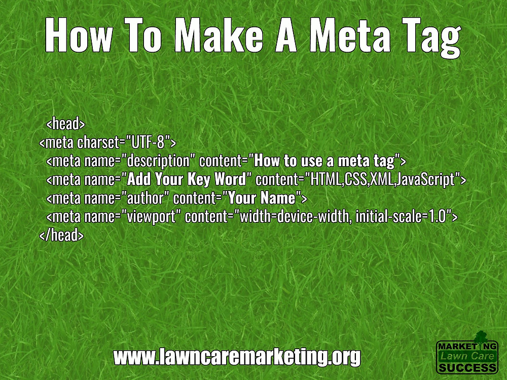 How to make a meta tag