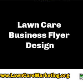 Lawn Care Business Flyer Design