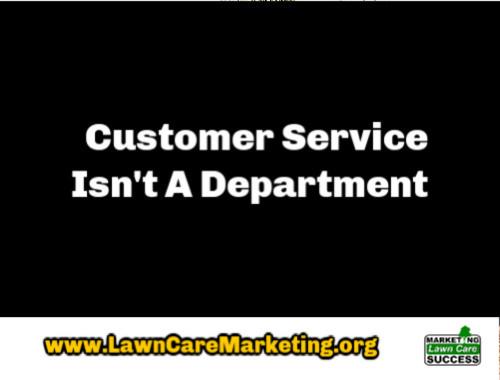 Customer Service Isn't A Department