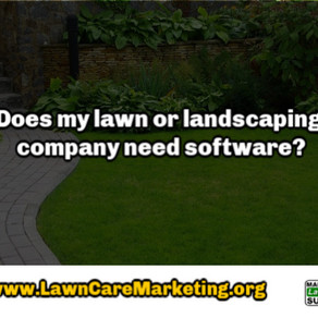 Does my lawn or landscaping company need software?