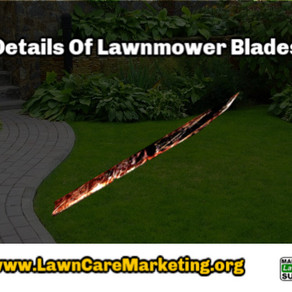 Details Of Lawnmower Blades