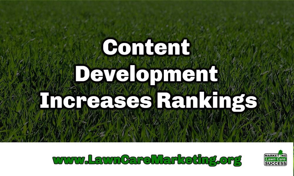 Content Development Increases Rankings