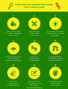 9 Key Lawn Care Business Flyer Design Tips To Keep In Mind: