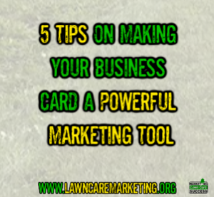 5 Tips On Making Your Business Card A Powerful Marketing Tool
